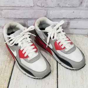 Nike Air Max sneakers red/gray/black size 7